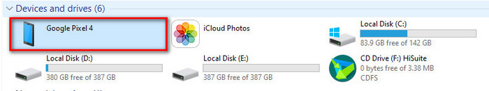 using the File Explorer on your PC