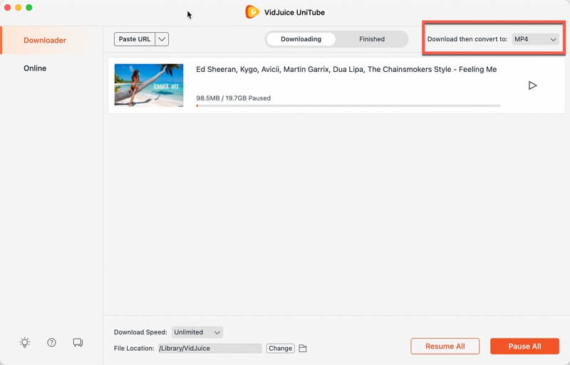 Enable Download and then Convert Mode