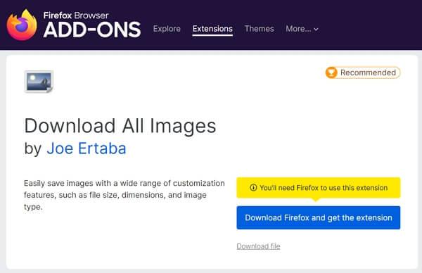 OnlyFans Image Downloader Firefox Plugin