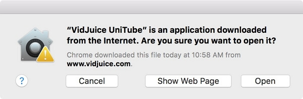 open the installation-package of unitube mac