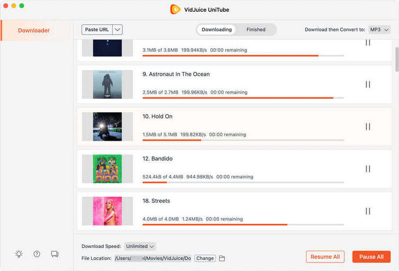 downloading videos to MP3